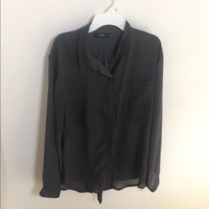 Apt. 9 gray button-down shirt